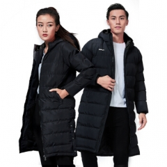 Kawasaki/川崎新款秋冬羽毛球服上衣男女同款外套中性款长版棉服 JK-R3814黑色 L   TY.1271