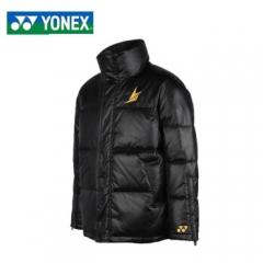 尤尼克斯(YONEX)冬季保暖羽绒服90007LD林丹同款休闲防寒白鸭绒高领羽绒外套 90007LDCR/黑色 L   TY.1272