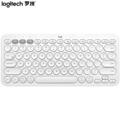 罗技(Logitech)K380 键盘 无线蓝牙键盘 办公键盘 女性 便携 超薄键盘 笔记本键盘 芍药白    PJ.553