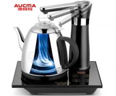 澳柯玛(AUCMA)自动上水电热水壶 304不锈钢 自动旋转免开盖 烧水壶 ADK-1350J1 0.8L电水壶 黑色   DQ.1392