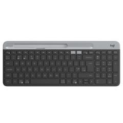 罗技(Logitech)K580 轻薄多设备无线键盘 蓝牙键盘 办公键盘 笔记本键盘 超薄 全尺寸 黑色   PJ.562
