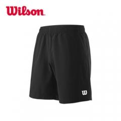 WILSON 威尔胜 男款 网球运动服短裤 训练裤 TEAM 8 SHORT 黑色WRA765502 L   TY.1297