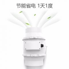 米风 管道风机超静音 排气扇卫生间厨房强力换气抽风机 8寸200mm口径  JC.943
