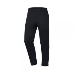 李宁官方男子卫裤平口加绒保暖2019新品训练系列AKLP693 新标准黑-1    L码    TY.1300