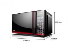 格兰仕(Galanz)微波炉光波炉烤箱一体机家用23L智能平板操控G80F23CN3L-Q6(W0) 黑色   DQ.1408