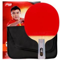 红双喜DHS乒乓球拍 直拍双面反胶弧圈结合快攻6星R6006   单块装    TY.1306