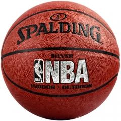 斯伯丁SPALDING NBA比赛PU材质篮球室内外成人儿童 蓝球 74-608Y   TY.1309
