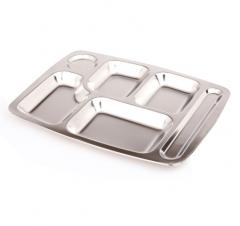 天厨 快餐盘 加厚食堂五/六分格餐盘 304不锈钢 10个/套 CF.116