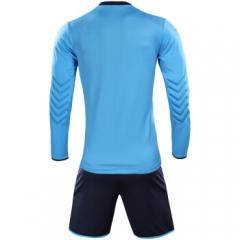 KELME卡尔美长袖守门员套装 长袖护肘比赛训练门服3871007  天蓝/深蓝   TY.1314