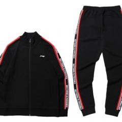 李宁 LI-NING 运动时尚系列男子收口开衫卫衣套装AWEP009-1 XL    TY.1325