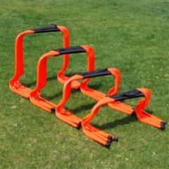 足球跆拳道训练器材小跨栏架敏捷训练障碍栏跳格梯障碍跨栏架 跨栏5个装+跨栏提手 橘红色 40厘米跨栏5个装+跨栏提手    TY.1334