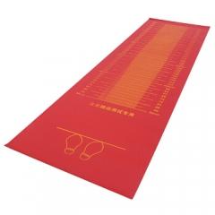 中考专用跳远用垫立定跳远测试垫立定跳远立定跳远橡胶垫 红色PVC款   TY.1335
