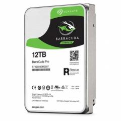 希捷(Seagate)12TB 256MB 7200RPM 台式机机械硬盘 SATA接口 希捷酷鱼BarraCuda Pro系列(ST12000DM0007)    PJ.588