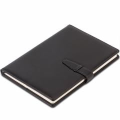 得力(deli)16K120张大号扣带皮面本 商务会议记事本笔记本子办公文具  3334   黑色     XH.740
