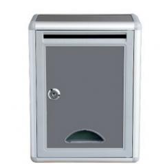 空白意见箱铝合金信报箱壁挂式扫黑除恶举报箱带锁  215mm*115mm*285mm         BG.389