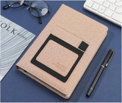 笔记本商务办公会议A5 加厚笔记本子 卡其色   BG.395