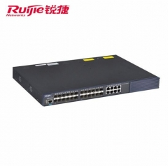 锐捷(Ruijie)RG-S5750-24SFP/8GT-S安全多业务高性能万兆交换机 黑色 WL.565