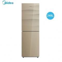 美的(Midea)BCD-249WGM两门智能控温冰箱风冷无霜格调金249升 DQ.1505