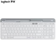 罗技(Logitech)K580 轻薄多设备无线键盘 蓝牙键盘 办公键盘 笔记本键盘 超薄 全尺寸 白色   PJ.562