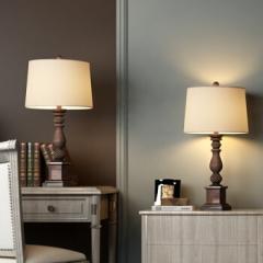 凡丁堡(FANDBO)美式台灯卧室床头灯宿舍欧式中式简约214中号可调光    DQ.1534