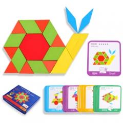 巧之木 儿童创意形状拼图      JX.183