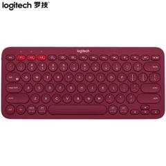 罗技(Logitech)K380 键盘 无线蓝牙键盘 办公键盘 女性 便携 超薄键盘 笔记本键盘 酒红色    PJ.553