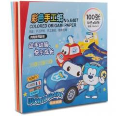 得力优酷6407彩色手工纸(混)(本) 108本装    JX.213