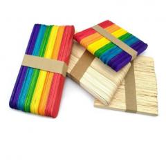 雪糕棒、冰棒棍、幼儿园DIY手工制作材料 彩色、原色(颜色请备注)    JX.216