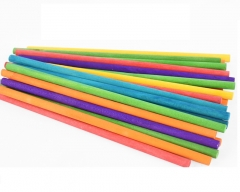 DIY手工建筑模型材料竹木棒、圆木棍、细竹棍 彩色、原色(颜色请备注)JX.218