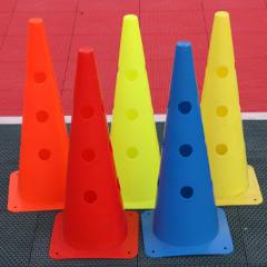 足球训练器材标志桶 K16XLC017-1 48厘米圆孔方底标志桶 (10个)    TY.1158