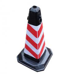 红色条纹 加厚橡胶路锥 警示柱     JC.1013