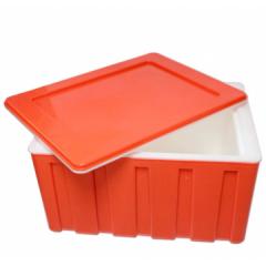 保温箱 冷藏箱 户外烧烤保温箱 外卖箱 车载保温箱 中央厨房 学校配餐箱 快餐配送箱 60L 桔红色    CF.1018