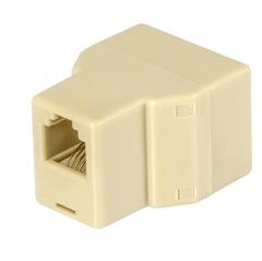 电话分线器CC052  2只/包 一分二 淡黄色      WL.628