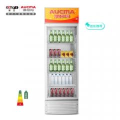 澳柯玛(AUCMA)387升 立式单门家用商用展示柜 冷藏饮料茶叶保鲜柜 啤酒冷饮玻璃门冰柜 SC-387(NE)    DQ.1542