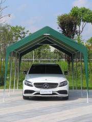 车棚停车棚家用汽车遮阳棚移动车库防雨棚户外防晒简易帐篷2.8*4m不带围布   TY.1165