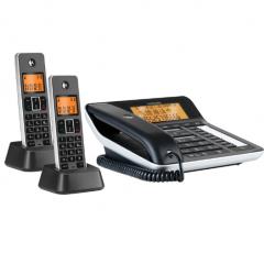 摩托罗拉(Motorola) C7501 RC一拖二 录音电话机 无线座机 子母机 IT.1144