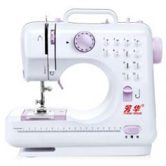 芳华505A电动家用缝纫机迷你小型台式锁边多功能电动家用吃厚缝纫机    JC.1074