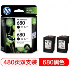 惠普(HP)X4E79AA 680双黑墨盒套装 (适用HP DeskJet 2138/3638/3636/3838/4678/4538/3777/3778/5078/5088)     HC.1162