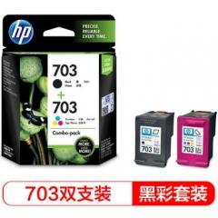惠普(HP)F6V32AA 703黑彩(1黑1彩单盒装 适用DJ F735 D730 K109a/g K209a/g Photosmart K510a)     HC.1198