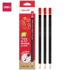 得力(deli)连中三元考试2B涂卡铅笔 12支/盒58119    BG.424