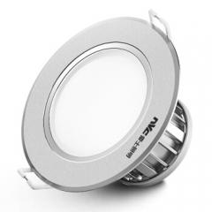 雷士(NVC) 雷士照明 LED筒灯天花灯 金属铝材砂银 4瓦暖黄光3000K 开孔7.5-8.5厘米    JC.1105