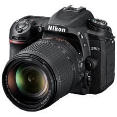 尼康 D7500套机(含18-200镜头、雷拓 72UV 、雷拓72cpl 、闪迪128SD、电池EL15、包 )   ZX.412
