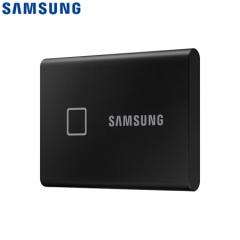 三星(SAMSUNG) 1TB Type-c移动硬盘 固态PSSD NVMe高速传输1050MB/秒 指纹识别 T7 Touch经典黑MU-PC1T0K    PJ.678