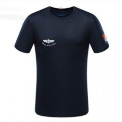飞行员体能训练服T恤衫圆领速干军迷户外男2020 空蓝 165-170/84-88      TY.1249