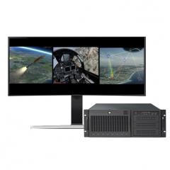 UltraLAB 多路实时视景生成工作站 VR410 147128-MA2E /10核4.7GHz+128GBDDR4 /2*RTX6000/1TBM2SSD +12TB SSD WL.732