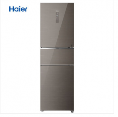 海尔 (Haier) 256升风冷无霜变频三门冰箱干湿分储全温区变温DEO净味保鲜小冰箱BCD-256WDGR DQ.1635