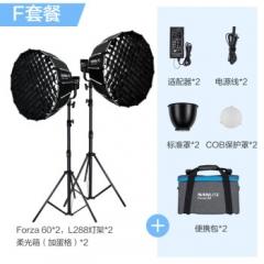 nanlite南光Forza 60w摄影灯拍照聚光 柔光便携外拍led补光灯套装  ZX.442