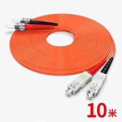 胜为(shengwei)电信级光纤跳线 ST-SC多模双芯10米 WL.759
