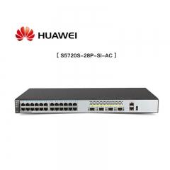 华为 S5720S-28P-SI-AC 网管型交换机 黑色 24口全千兆三层网管网络核心交换机 4个千兆光口 支持VLAN 支持云管理 WL.238