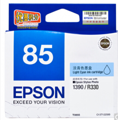 爱普生 T0855 (T1225) 淡蓝色 C13T122580(适用PHOTO 1390 R330)HC.1611